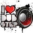 Stock Vector: I love dubstep