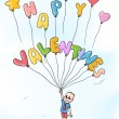 Royalty-Free Stock Imagen vectorial: Happy valentines ballons