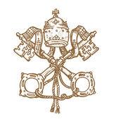 Vatican symbol — Stock Vector