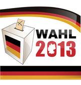 Bundestagswahl deutschland — Stok Vektör