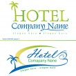 Holiday hotel symbols - Stockvectorbeeld