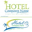 Holiday hotel symbols - Stockvektor