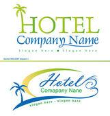Holiday hotel symbols — Stock Vector