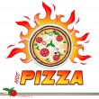 Stock Vector: Hot pizzproject