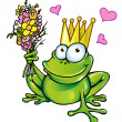 Royalty-Free Stock Vector Image: Frog with bouquet