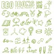 Eco icons hand draw 2 — Stock Vector