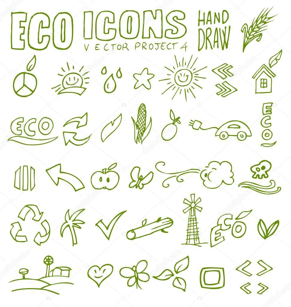 生态图标手绘制 4