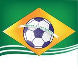 Brasil arka plan futbol 2014 — Stok Vektör