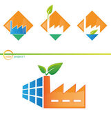 Photovoltaic project 1 — Stock Vector