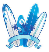 Surfboard background — Stock Vector