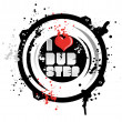 Royalty-Free Stock Vector Image: I love dub step