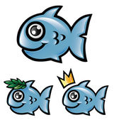 Fish vector cartoon — Stock Vector