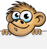 Monkey cartoon with background — Stock Vector