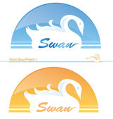 Swan project 1 — Stock Vector