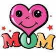 I love mom - Stock Vector