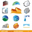Vector house icon project 1 — Stock Vector #24831199