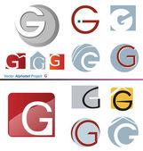 Vector Alphabet Project G — Stock Vector