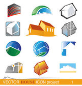 Vector house icon project 1 — Stock Vector