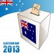 Australian electoin day background with urn — Stock Vector #25731283