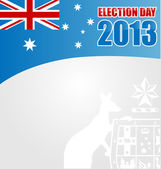 Australian electoin day background with emblem — Stock Vector