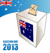 Australian electoin day background with urn — Stock Vector