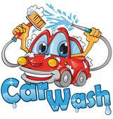 Car wash service — Stock Vector