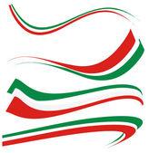 Set italian flag — Stock Vector