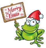 Christmas frog — Stock Vector