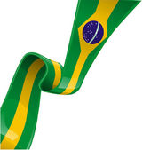 Brazil ribbon flag — Stock Vector
