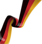 German ribbon flag — Stock Vector