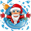 Santa claus with christmas ball — Stock Vector