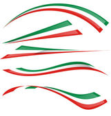 Italian flag set — Stock Vector