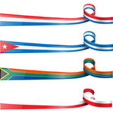 Ribbon flag set — Stock Vector