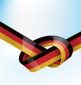 Germanic ribbon flag on sky background — Stock Vector