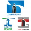 Lighthouse symbol set — Stock Vector #42469991