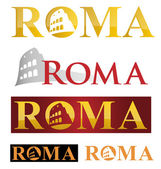 Rome icon symbol isolate on white background — Stock Vector