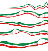 Italian flag set isolated — Stock Vector