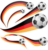 Germany flag with soccer ball — Stock Vector