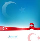 Turkey ribbon flag background  — Stock Vector