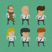 Group of business men , women charactor — Vector de stock
