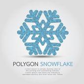 Polygon Snowflake — Stock Vector