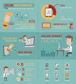 Online nakupování infografiky prvků — Stock vektor