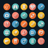 Medical Icons , Long shadow — Stock Vector