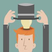 Businessman get idea — Stock Vector