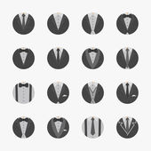 Businessman Suit Icons with White Background — Stock Vector