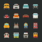 Car icons , transport — Stock Vector