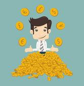 Businessman wealth — Stock Vector