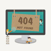 Page not found, 404 error — Stock Vector