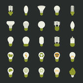 Lamp and light bulb concept , icon set — Vecteur