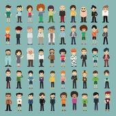 Group cartoon people  — Stock Vector